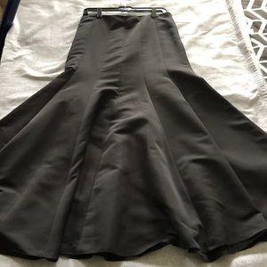 Vintage floor length Loft black skirt